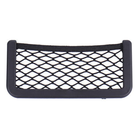 Universal black car seat side Net storage bag 20*8CM OR 15*8 pocket organizer phone holder adhesive box auto accessories