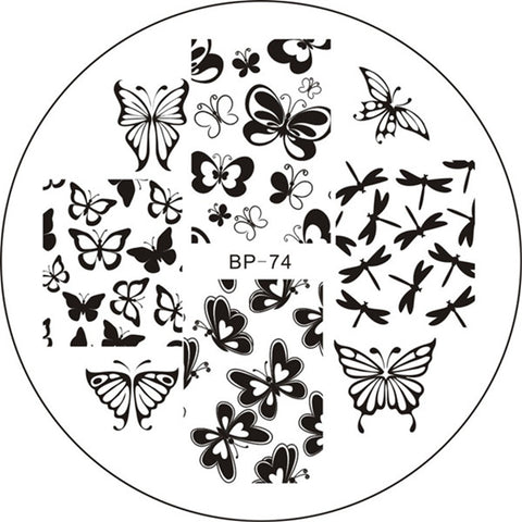 Various Butterfly Nail Art Stamping Template Stamp Image Plate BORN PRETTY BP74