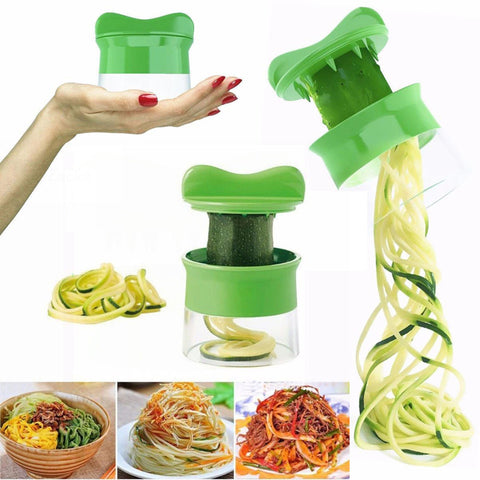 Vegetable Fruit Spiral Slicer Carrot Cucumber Grater Spiral Blade Cutter Salad Tools Zucchini Pasta Noodle Spaghetti Maker