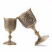 Vintage Hand-made Solid Copper Wine Glass Water Goblet Carving Pattern FG