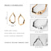 Vintage Simple Geometric Stud Earrings Jewelry for Women Retro Alloy Antique Gold Round Hollow Statement Earrings Brincos