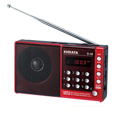 XHDATA  D-38 FM-Stereo / MW / SW / MP3-Player / DSP Vollband Radio D38 (English/German/Japanese/Russian user manual)