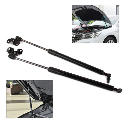CITALL 2x Car Black & Silver Metal Front Hood Lid Lift Support Damper Shock Strut Fit for Honda Accord 2003 2004 2005 2006 2007
