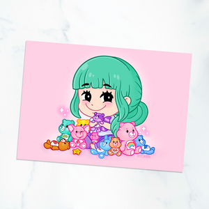 Care Bear Fan 5x7 Art Print