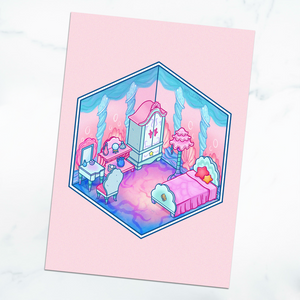 Animal Crossing Mermaid Room 5x7 Art Print