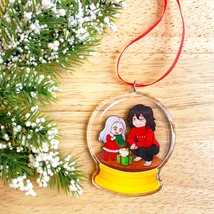 Eri & Aizawa Snow Globe Ornament