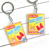 My Hero Academia Pro Heroes Snacktime Keychains