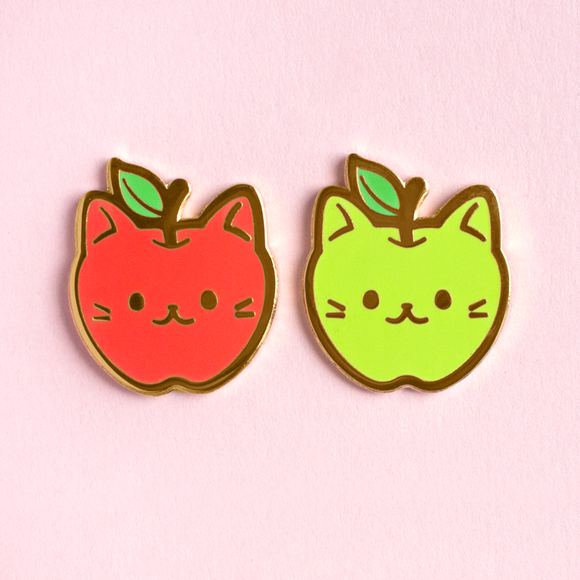 Apple Cat Pin