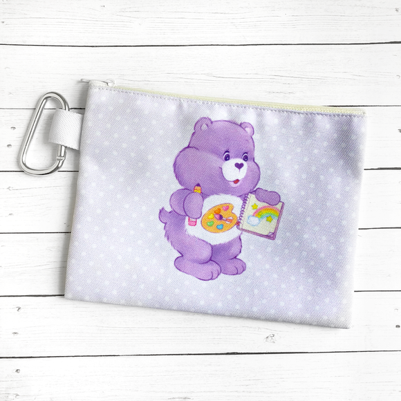 Artist Bear Canvas Zipper Pouch
