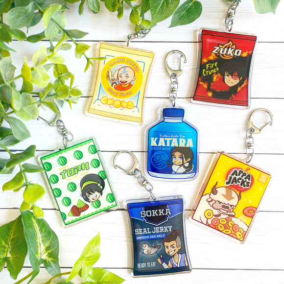 Avatar: The Last Airbender Snacktime Keychains