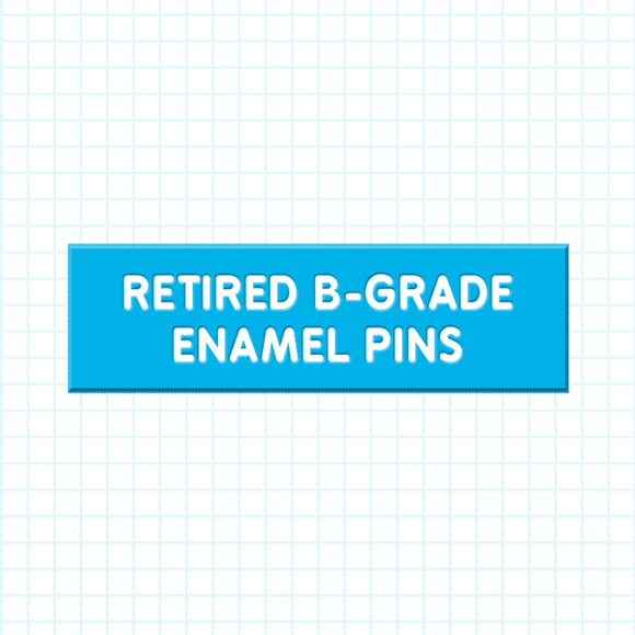 Retired B-Grade Enamel Pins