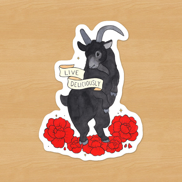 Black Phillip Live Deliciously Sticker