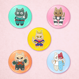 My Hero Academia Cat Buttons