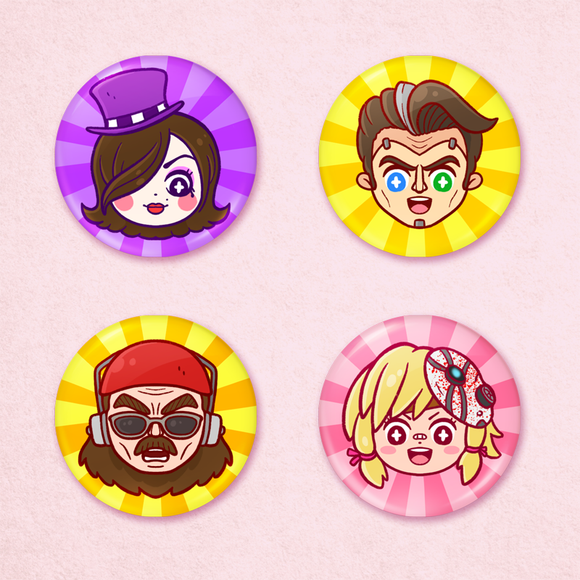 Borderlands 2 Portrait Buttons