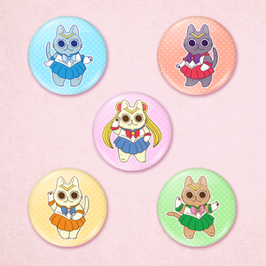 Sailor Moon Cat Buttons