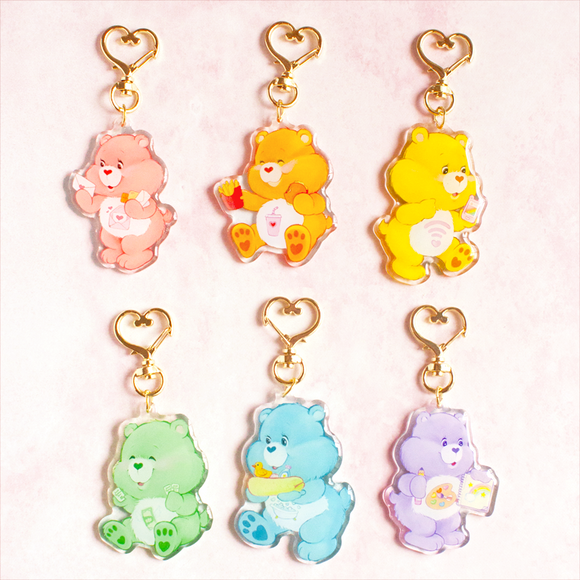 Luna's Care Bear Keychains