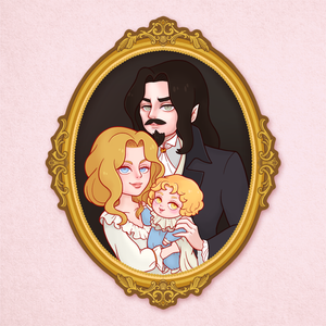 Castlevania Family Portrait Sticker