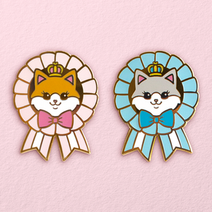 Royal Kitty Rosette Pins