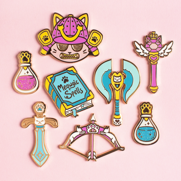 Cat Fantasy Weapon Pins *LAST CHANCE*