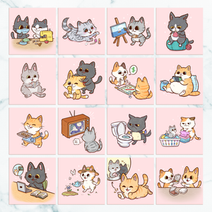 Cats At Home Mini Prints