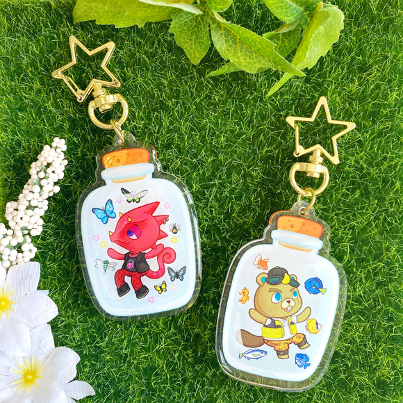 Flick & CJ Bottle Keychain