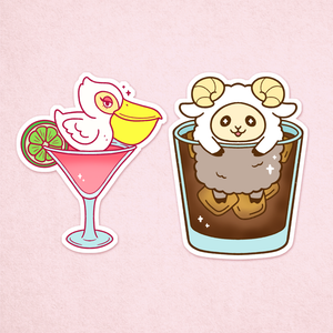 Cocktail Critter Sticker Pack