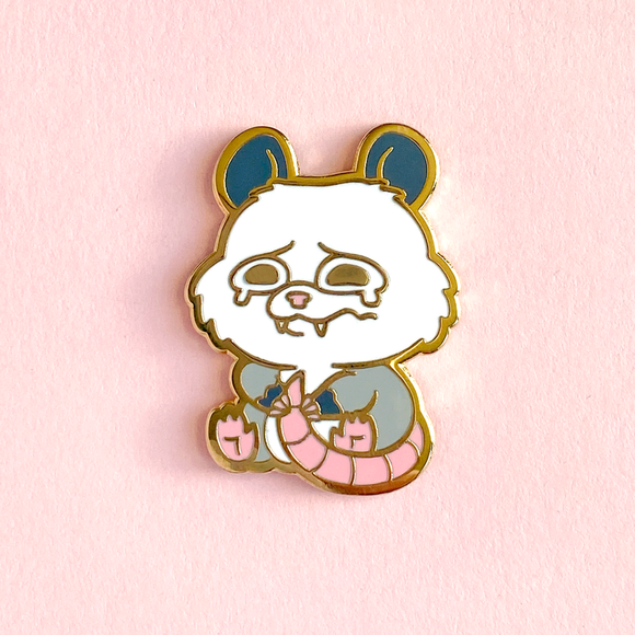 Crying Possum Pin