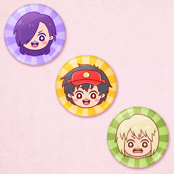 Devil is a Part Timer Portrait Buttons