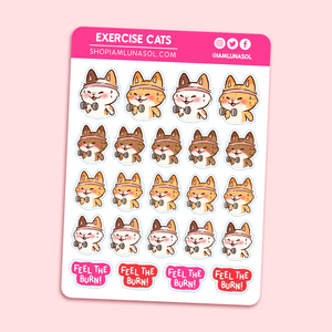 Exercise Cats Sticker Sheet