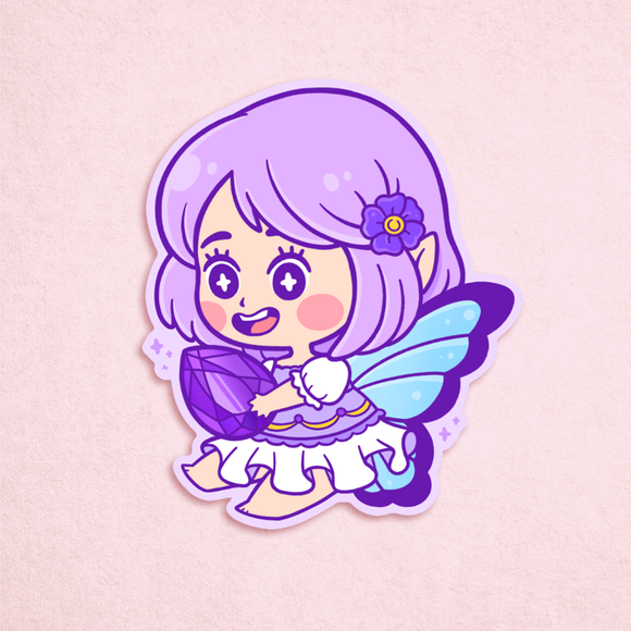 Amethyst Fairy Sticker