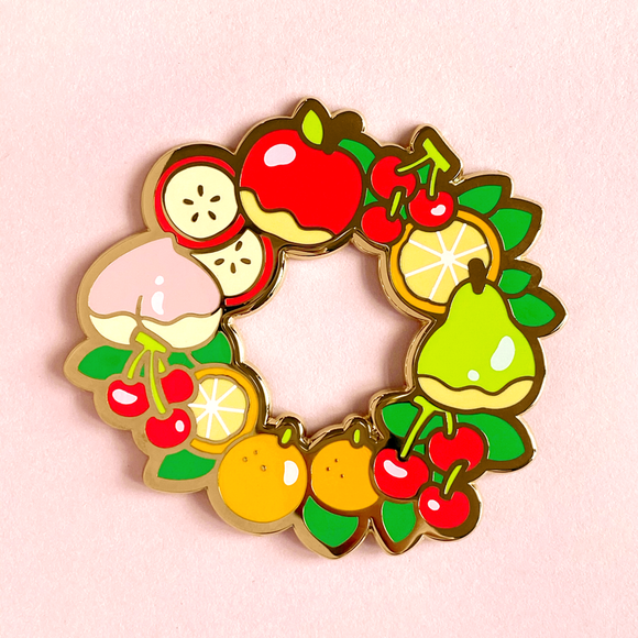 Fruit Wreath Pin