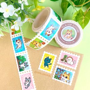 Garden Kitties Stamp Washi Tape