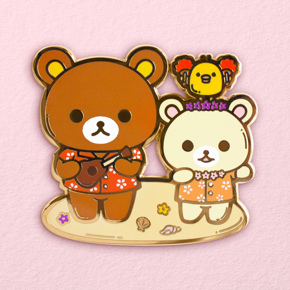Hawaiian Hula Rilakkuma Pin (Backordered)