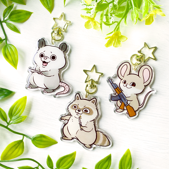 Home Security Critters Keychains