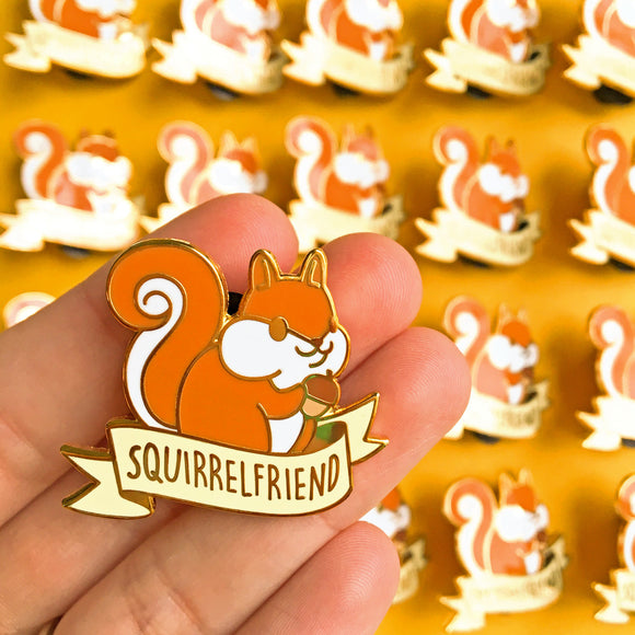 Squirrelfriend Pin