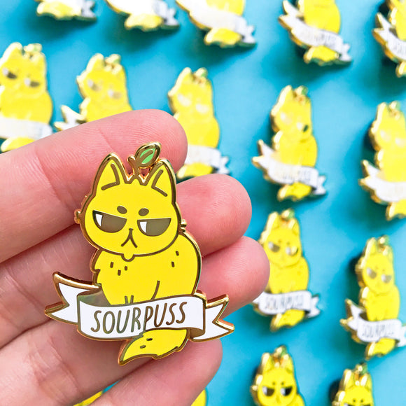 Sourpuss Pin