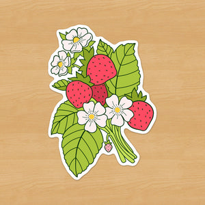 Strawberry Bunch Sticker