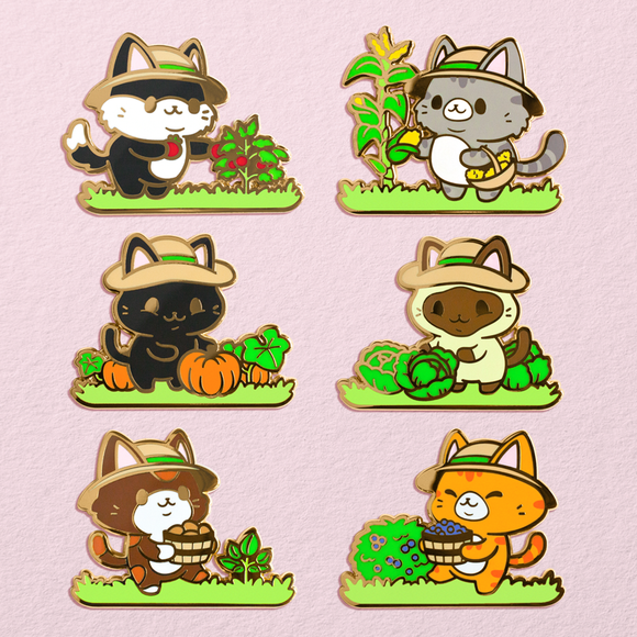 Kitty Crops Pins