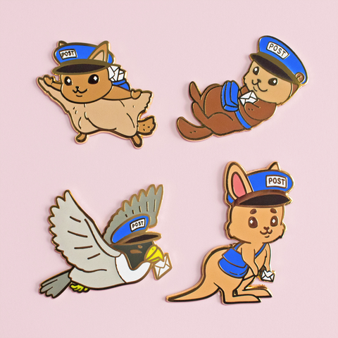 Mail Carrier Critters Pins