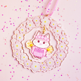 Sakura Festival Kitty Acrylic Decoration