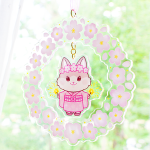 Limited Edition Sakura Festival Kitty Acrylic Decoration
