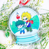 Skating With All Might Snow Globe Ornament