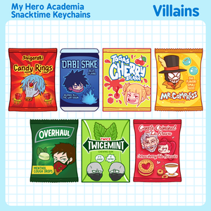 My Hero Academia Villains Snacktime Keychains