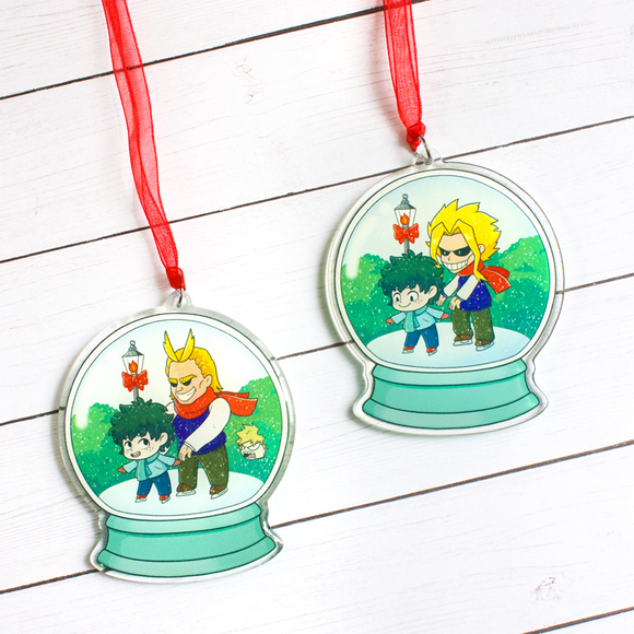PREORDER Skating With All Might Snow Globe Ornament