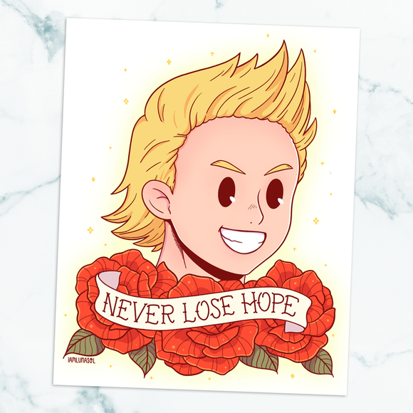 Mirio Togata Never Lose Hope Art Print