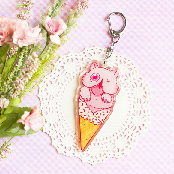 Mitty Ice Cream Keychain