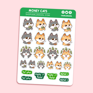 Money Cats Sticker Sheet
