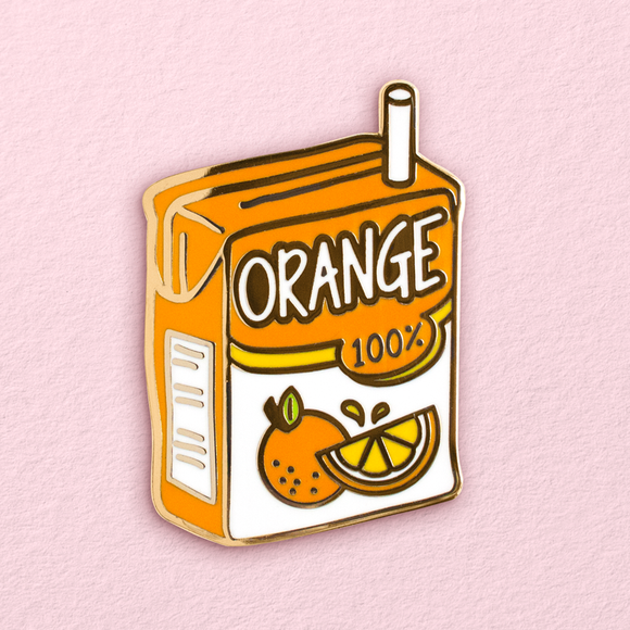 Orange Juice Box Pin