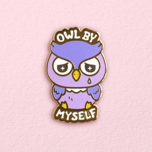 Owl By Myself Pin