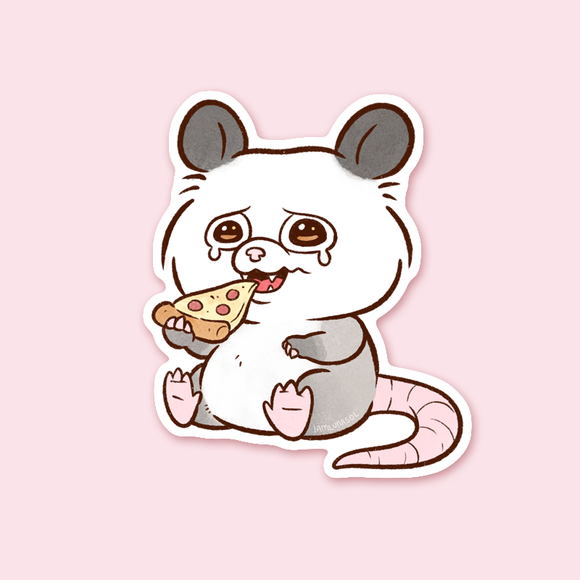 Pizza Possum Sticker